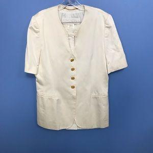 Vintage Short Sleeve Escada Skirt Suit
